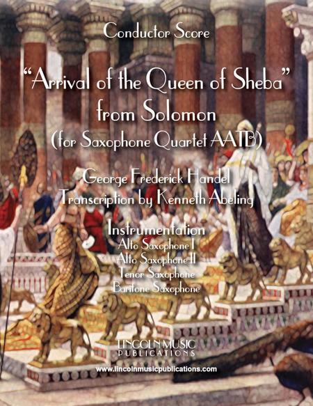 Arrival of the Queen of Sheba (for Saxophone Quartet AATB)