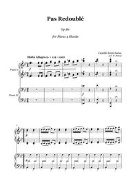 Saint-Saens - Pas Redouble Op.86 - 1 Piano 4 Hands