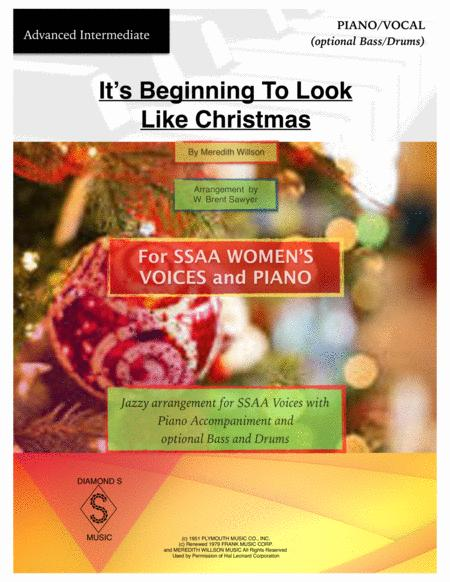 It's Beginning To Look Like Christmas - Vocal (SSAA)  and Piano