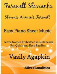 Farewell Slavianka Slavonic Women's Farewell Easy Piano Sheet Music