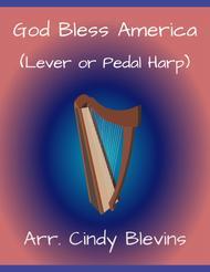 God Bless America, arranged for Lever or Pedal Harp