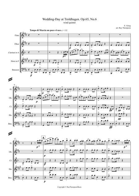 Grieg: Wedding-Day at Troldhagen - wind quintet