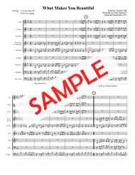 WHAT MAKES YOU BEAUTIFUL (recorded by One Direction) - for pep band, basketball band, small jazz ensemble