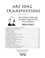 Duparc: Complete songs (High voice)