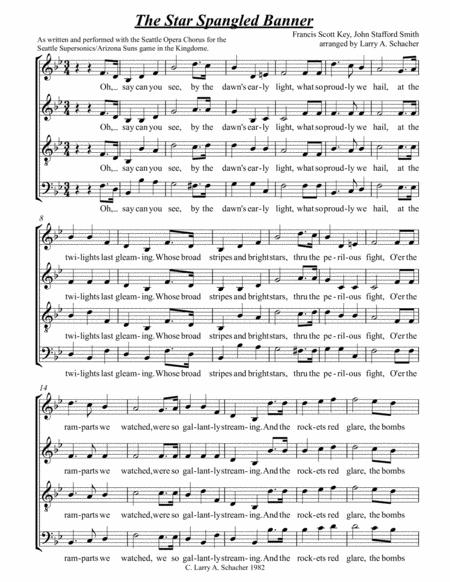 The Star Spangled Banner.
