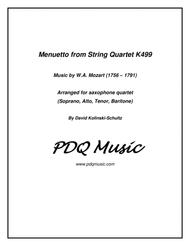 Menuetto for Sax Quartet