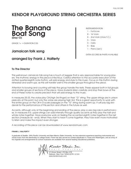 Banana Boat Song, The (Day-O) - Full Score