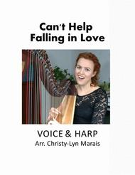 Can't Help Falling In Love (Harp & Voice) Eb major