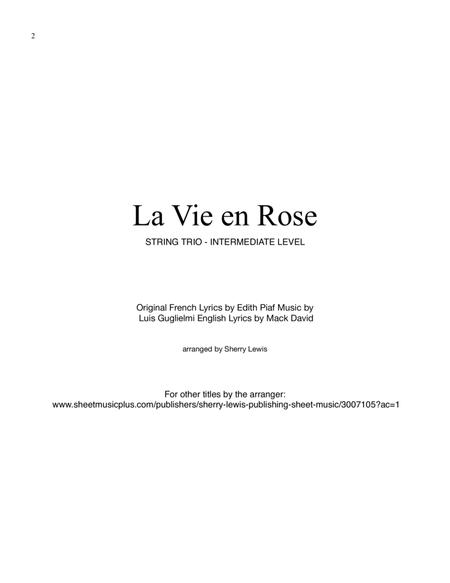 La Vie En Rose for STRING DUO