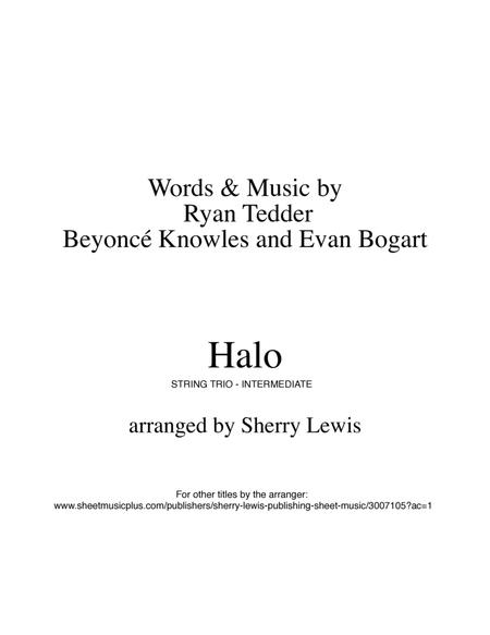 Halo, Beyonce, for STRING TRIO