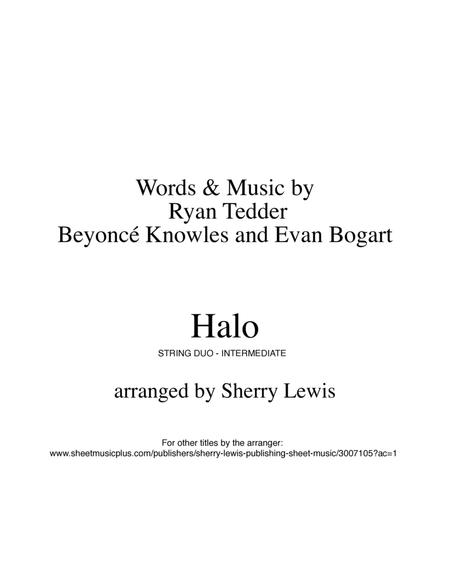 Halo, Beyonce, for STRING DUO