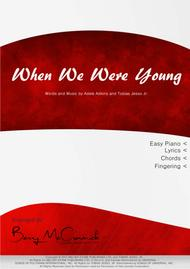 When We Were Young - Adele - Easy Piano Arrangement