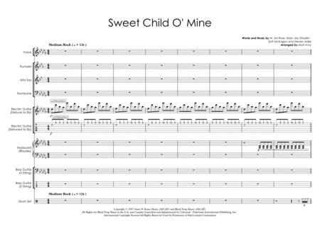 Sweet Child O' Mine - Vocals with Rhythm Section & Horns
