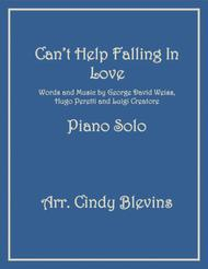 Can't Help Falling In Love, arranged for Piano Solo