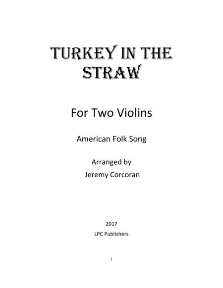Turkey in the Straw for Two Violins