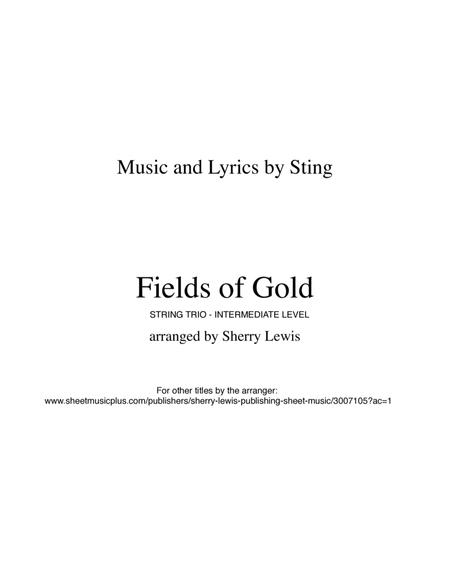 Fields Of Gold for STRING TRIO