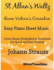 St Alban's Waltz Queen Victoria's Coronation Easy Piano Sheet Music