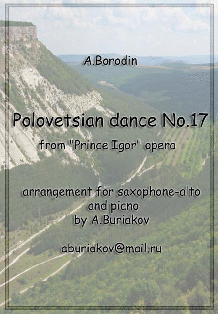 Polovetsian dance No.17 (alto saxophone)