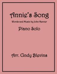 Annie's Song, arranged for Piano Solo