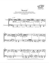 Remedy - Violin & Cello Duet - Adele arr. Cellobat - Recording Available!