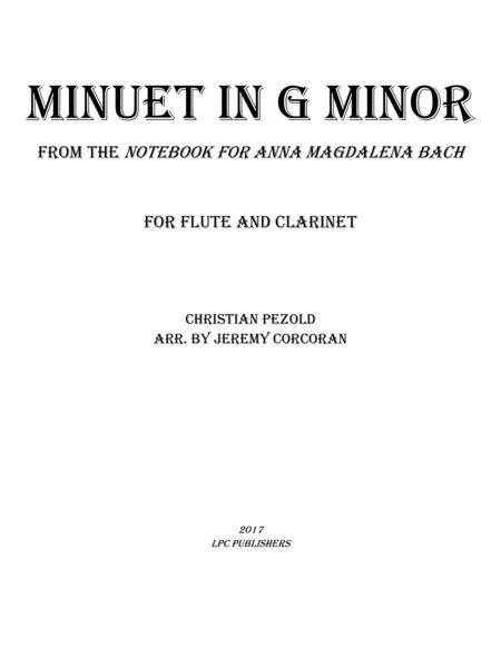 Minuet in G Minor from Notebook for Anna Magdelena Bach
