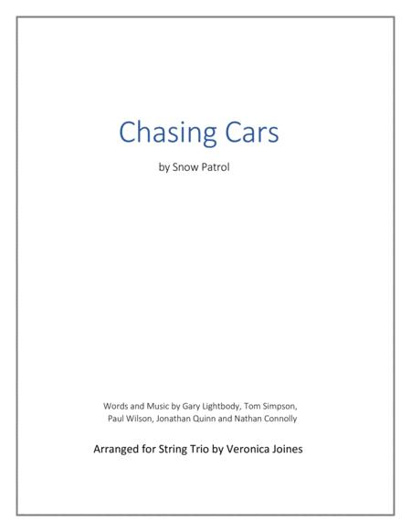 Chasing Cars for String Trio (Violin, Viola, Cello)