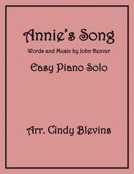 Annie's Song, an Easy Piano Solo arrangement