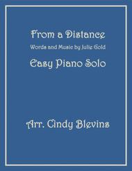 From A Distance, an Easy Piano Solo arrangement
