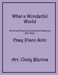 What A Wonderful World, an Easy Piano Solo arrangement