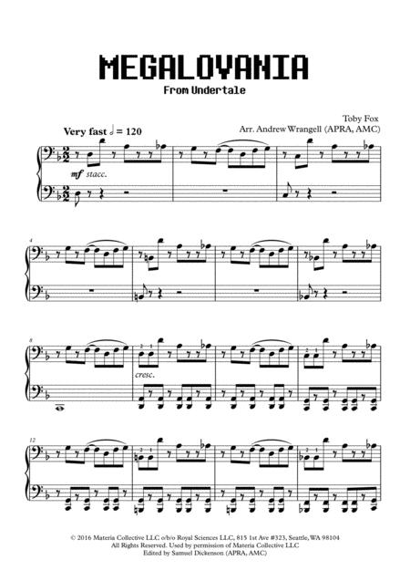 Download MEGALOVANIA (from Undertale) (Piano) Sheet Music By
