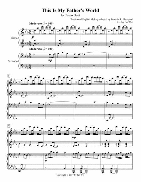 This Is My Father's World for Piano Duet