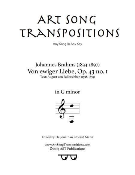 Von ewiger Liebe, Op. 43 no. 1 (G minor)