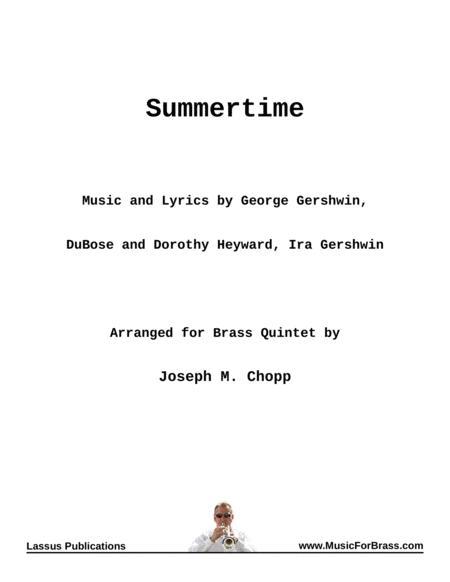 Summertime for Brass Quintet