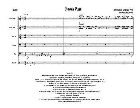 Download Uptown Funk - Brass Quintet Sheet Music By Mark Ronson Ft