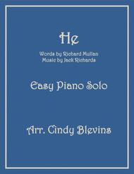 He, an Easy Piano Solo arrangement