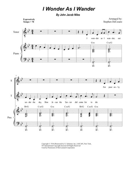 I Wonder As I Wander (Duet for Soprano and Tenor Solo)