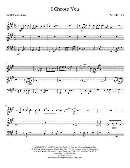 I Choose You (Violin 1, Violin 2, Cello)