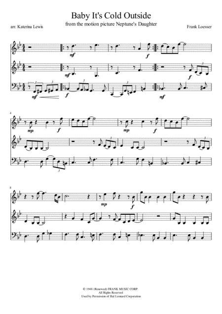 Baby, It's Cold Outside (Violin 1, Violin 2, Cello)