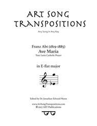 Ave Maria (E-flat major)