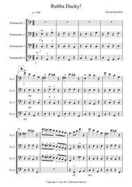 Rubba Ducky! for Cello Quartet