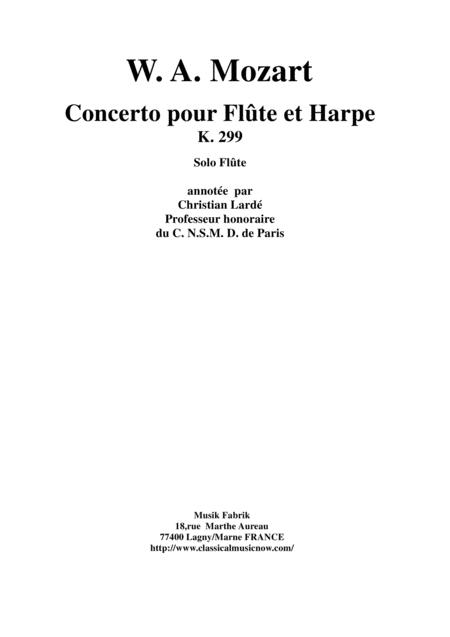 Wolfgang Amadeus Mozart: Concerto for flute and harp, K. 299, solo flute part