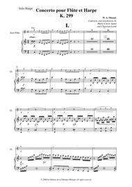 Wolfgang Amadeus Mozart: Concerto for flute and harp, K. 299, solo harp part