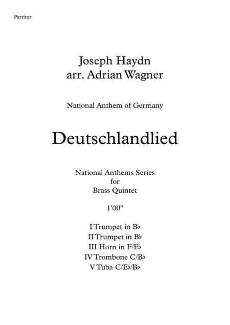 Deutschlandlied (National Anthem of Germany) Brass Quintet arr. Adrian Wagner