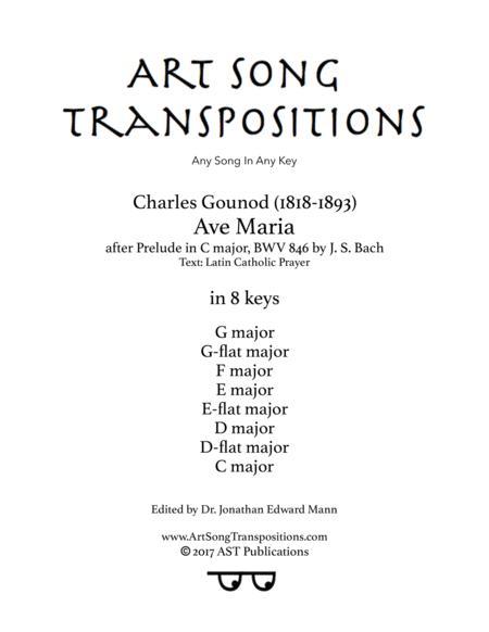 Ave Maria (in 8 keys: G, G-flat, F, E, E-flat, D, D-flat, C major)