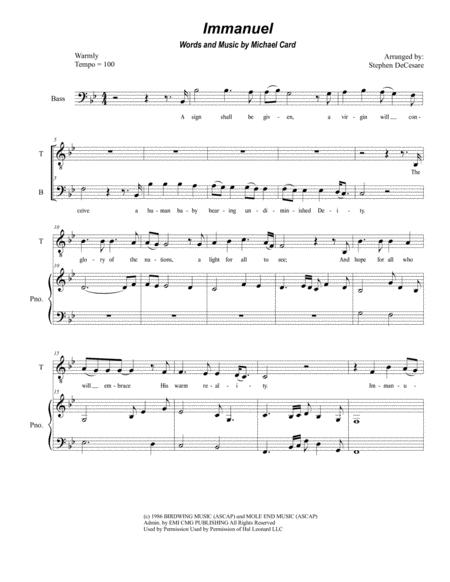 Immanuel (Duet for Tenor and Bass Solo)