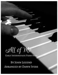 All of Me - Easy/Intermediate Piano Solo