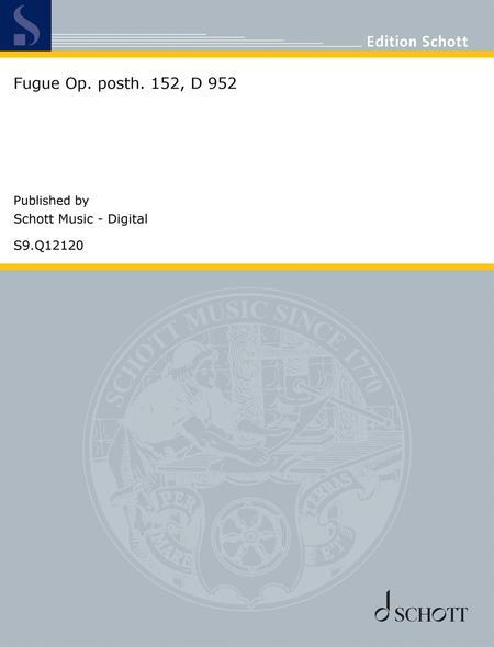 Fugue Op. posth. 152, D 952