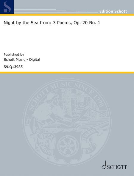 Night by the Sea from: 3 Poems, Op. 20 No. 1