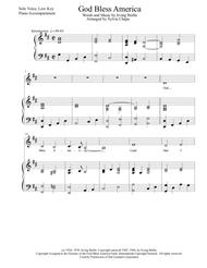 God Bless America, Solo Voice (Low), Piano Accompaniment, arr. by Sylvia Chapa