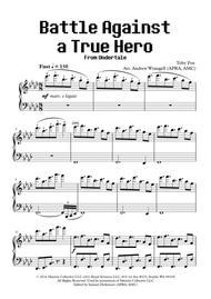 Battle Against a True Hero (from Undertale) (Piano)